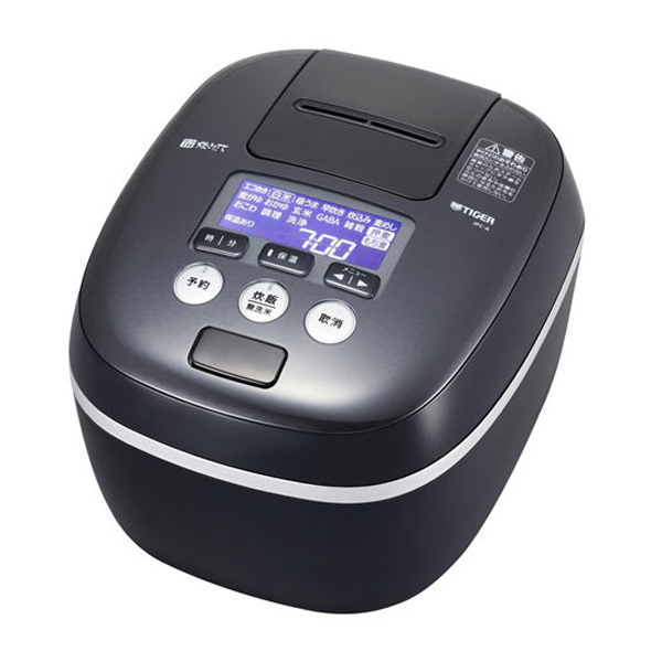 \エントリーでポイント6倍/『送料無料』タイガー 圧力IH炊飯ジャー 5.5合炊き 炊きたて 熱流&熱封土鍋コーティング アーバンブラック JPC-A102-KE
