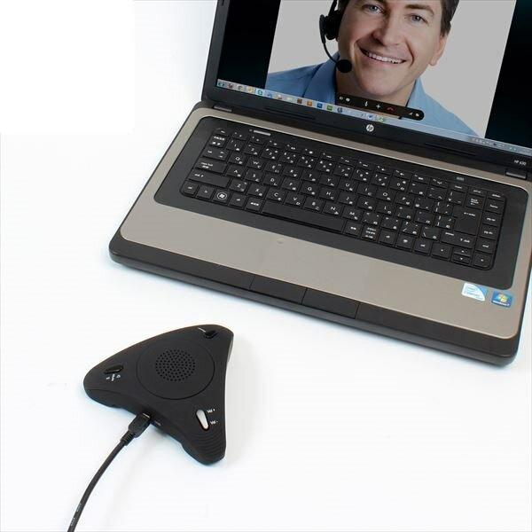 \エントリ&カードポイント14倍/『送料無料』サンコー Skype スピーカーフォン みんなで話す蔵 Skype対応スピーカー USBSKPMT
