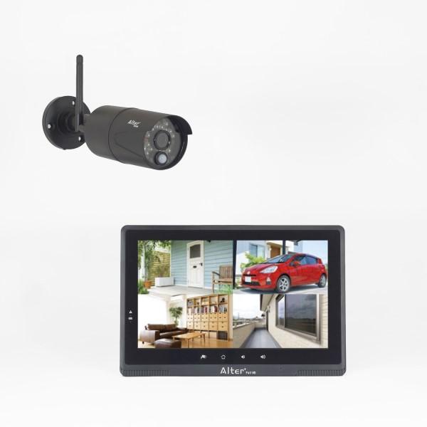 『送料無料』オルタプラス フルハイビジョンHD無線カメラ&モニターセット 17-7672 AFH-101