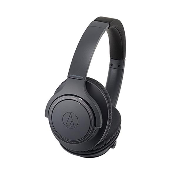 \エントリーでポイント6倍/『送料無料』オーディオテクニカ Bluetooth ワイヤレスヘッドホン ブラック SoundReality ATH-SR30BTBK