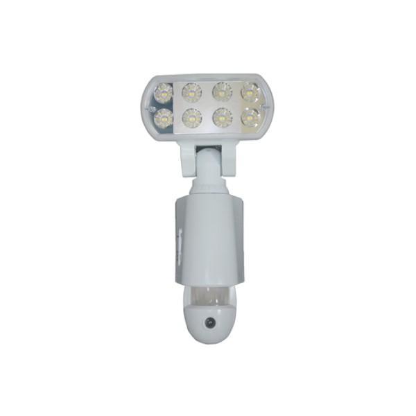 \エントリーでポイント6倍/【送料無料】マザーツール LEDセンサーライト カメラ ホワイト microSDカード付属 18-0088 MT-SL03W