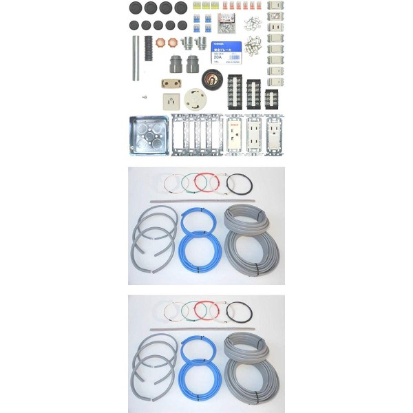『送料無料』第二種 電気工事士技能試験セット 練習用器具+ケーブルセット 2回用 2019年度 練習用材料 一発合格 プロサポート PSC-00130 令和元年 電気工事士試験セット 教材