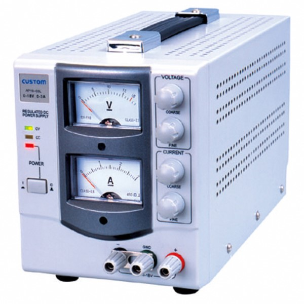 『送料無料』カスタム アナログ式 直流安定化電源 出力電圧 0~18V/出力電流 0~3A AP-1803