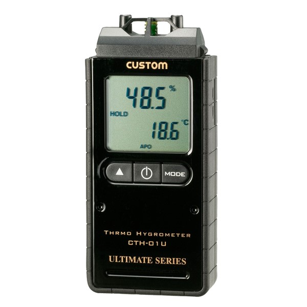 \カードでポイント5倍/『送料無料』カスタム デジタル温湿度計 ピアノブラック 周囲環境温度測定対応 CTH-01U