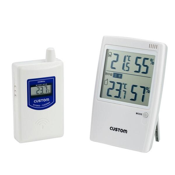 \Wエントリー&カードポイント17倍/(5%還元含)『送料無料』カスタム 無線温湿時モニター 熱中症警告インジケータ付 HI-01RF
