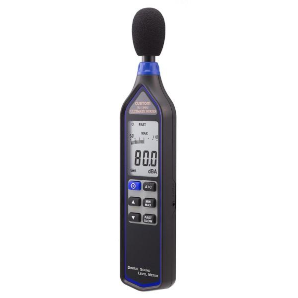 \ポイント5倍/【送料無料】カスタム デジタル騒音計 ブラック 32~130dB ケース付 SL-1340U