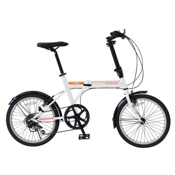 \カードでポイント9倍/『送料無料』アクティブ911 ノーパンク 折りたたみ自転車 20インチ ホワイト ミムゴ FDB206SF MG-G206NF-WH ノーパンクタイヤ 自転車 『メーカー直送・代金引換不可・キャンセル不可』