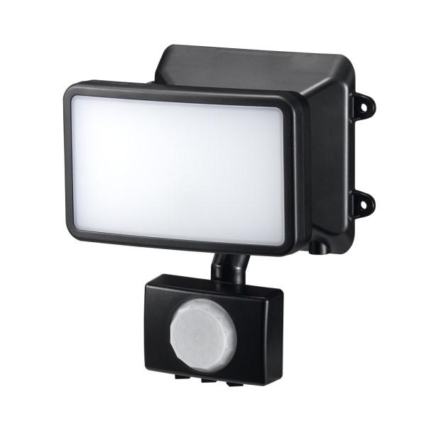 \エントリ&カードポイント14倍/『送料無料』ヤザワ LEDセンサーライト ACコンセント式 防雨・調光タイプ 6W×1灯 リモコン付 SLR6LEA センサーライト 屋外 人感 LED