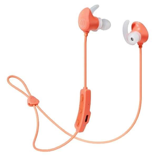 \エントリ&カードポイント14倍/『送料無料』オーディオテクニカ Bluetooth ワイヤレスヘッドホン ピンク SONICSPORT ATH-SPORT60BTPK