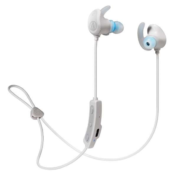 \エントリ&カードポイント14倍/『送料無料』オーディオテクニカ Bluetooth ワイヤレスヘッドホン ホワイト SONICSPORT ATH-SPORT60BTWH