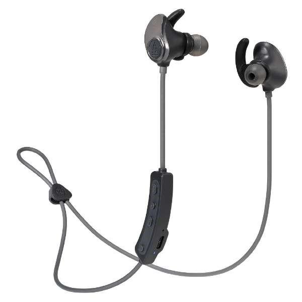 \ポイント5倍/『送料無料』オーディオテクニカ Bluetooth ワイヤレスヘッドホン ガンメタルブラック 音楽プレイヤー付内蔵 SONICSPORT ATH-SPORT90BTBK