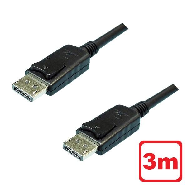 \スーパーセール最大ポイント27倍 30日間返品保証 年中無休 あす楽対応 \ポイント5倍 9 11まで メール便送料無料 4K対応 DisplayPortケーブル ディスプレイポート 有名な 返品保証 60Hz DPケーブル 3m 3AカンパニーCO φ6.8mm PCC-DPC30 4K ファッション通販 Ver.1.2