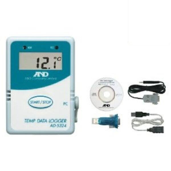 \ポイント5倍/『送料無料』エー・アンド・デイ 温度データーロガー 4000メモリー対応 通信セット AD-5324SET 測定 計測器具 A&D