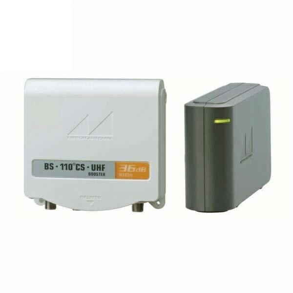 \ポイント5倍/『送料無料』日本アンテナ BS・110°CS/UHF電源分離型ブースター N36SU2-BP
