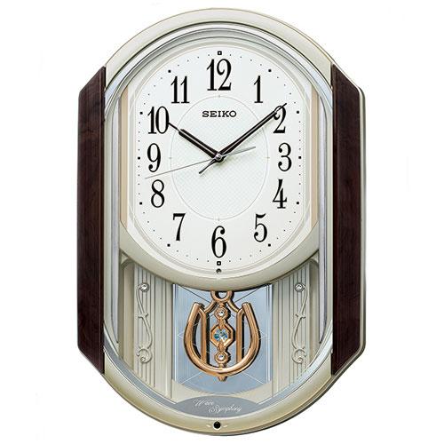 セイコー AM264B からくり・アミューズ 電波掛け時計