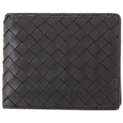 Pomerance IT02-BK 二つ折り小銭入れ付き財布 シープスキン ブラック