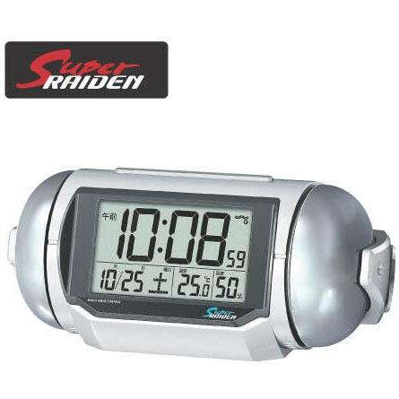 【在庫あり】14時までの注文で当日出荷可能! セイコー NR523W(ホワイト) 電波目覚まし時計 スーパーライデン