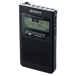 索尼XDR-63TV-B(黑色)1 SEG TV声音收信pokettabururajio