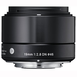 【長期保証付】シグマ 19mm F2.8 DN(ブラック) マイクロフォーサーズ用