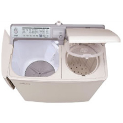 【長期保証付】日立(HITACHI) 2槽式洗濯機(パインベージュ) 青空 洗濯4.5kg/脱水5kg PA-T45K5-CP