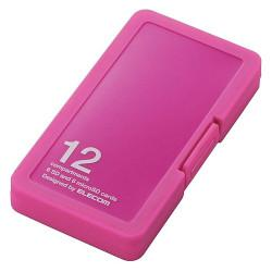 エレコム CMC-SDCPP12PN ピンク 注目ブランド プラスチックタイプ SD 割引も実施中 microSDカードケース