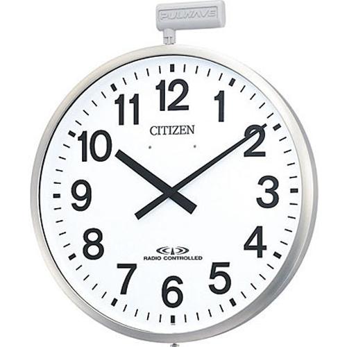 シチズン 4MY611-N19(銀色ヘアライン仕上) ポールウェーブSF 電波掛け時計