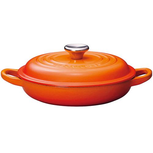 ル・クルーゼ LE CREUSET ビュッフェ キャセロール IH対応 両手鍋 18cm 2132-18(オレンジ) 2132-18