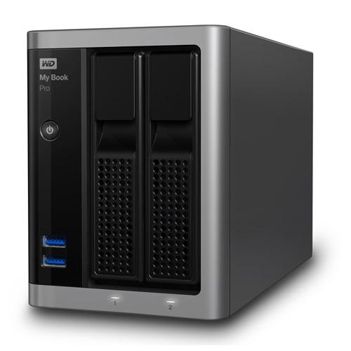 WesternDigital WDBDTB0120JSL-JESN My Book Pro 外付HDD 12TB USB3.0接続 2ドライブ RAID対応