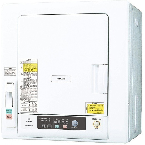 【長期保証付】日立 HITACHI 衣類乾燥機 6.0kg DE-N60WV-W(ピュアホワイト) ヒーター乾燥/風乾燥/シワ対策