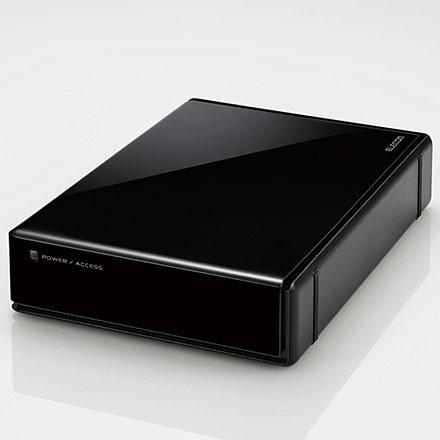 エレコム ELD-QEN010UBK(ブラック) ELD-QENUBKシリーズ 外付けHDD 1TB USB3.0接続 SeeQVault対応