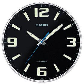 爆安 大人気! 在庫あり 14時までの注文で当日出荷可能 CASIO ブラック IQ-1009J-1JF 電波掛け時計