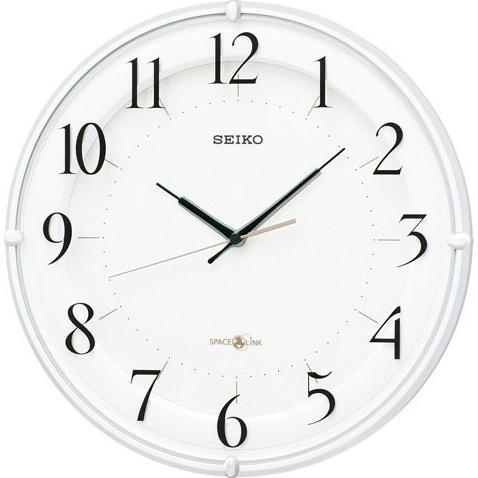 セイコー GP216W(白パール) 衛星電波掛け時計