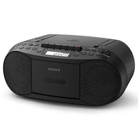 公式ストア 在庫あり 14時までの注文で当日出荷可能 販売実績No.1 ソニー CFD-S70-B ワイドFM対応 CDカセットレコーダー ブラック