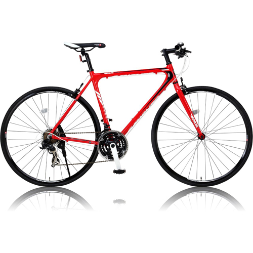 canover VENUS クロスバイク CAC-021 700×25C シマノ21段変速 レッド