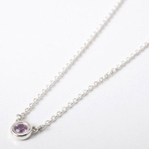 Tiffany&Co. 25390474 バイザヤード ピンクサファイヤ0.08ct ペンダント