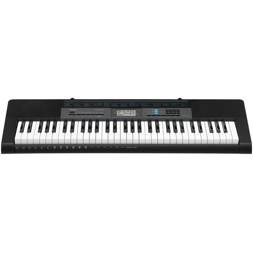 CASIO カシオ ベーシックキーボード 61鍵盤 CTK-2550 400内蔵音色/100内蔵リズム/ダンスミュージックモード/60曲内蔵ソングバンク/ACアダプター付属
