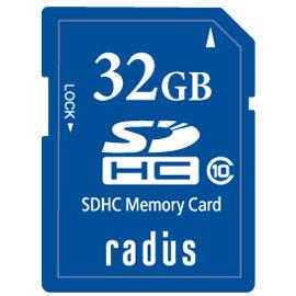 ラディウス RP-SDH32X SDHCカード 32GB CLASS10