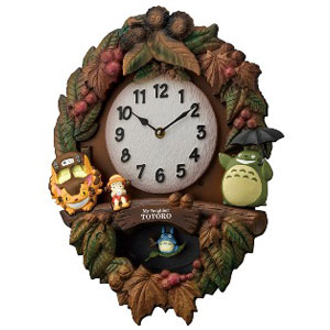 リズム時計 4MJ429-M06(茶色ボカシ仕上) トトロM429 報時付クオーツ掛け時計