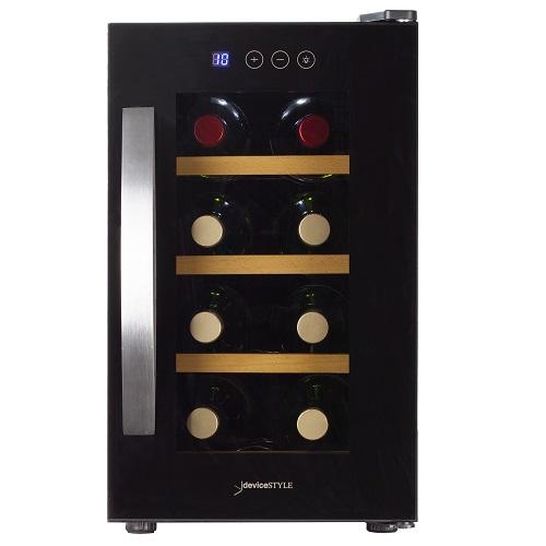 【設置+長期保証】デバイスタイル CE-8W ペルチェ方式8本収納用ワインセラー
