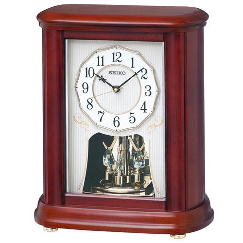 セイコー BY242B(茶木地塗装) 置時計