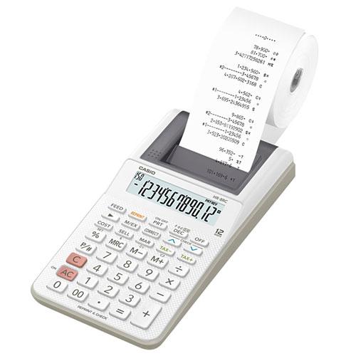 【在庫あり】14時までの注文で当日出荷可能! CASIO HR-8RC-WE ハンディタイプ 12桁 プリンター電卓