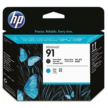 HP C9460A 純正 HP91プリントヘッド マットブラック/シアン 2色パック