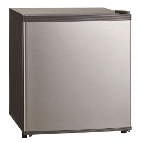 【長期保証付】三ツ星貿易 SKM45(シルバーグレー) 直冷式 1ドア冷蔵庫 右開き 47L