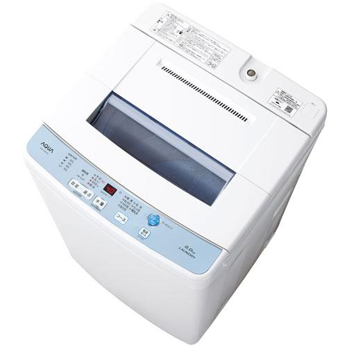 【長期保証付】アクア AQW-S60F-W(ホワイト) 全自動洗濯機 上開き 洗濯6kg