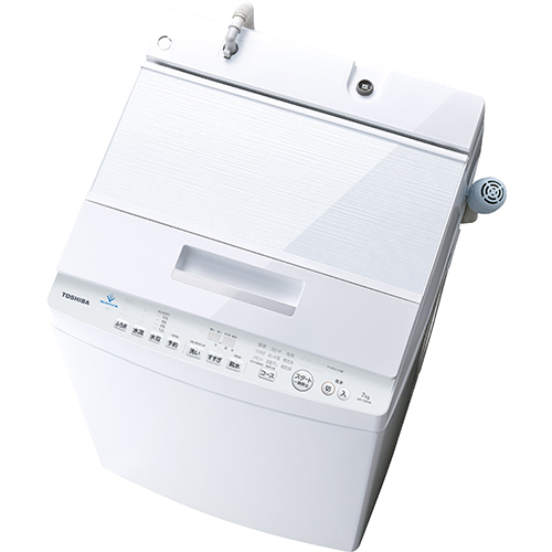 【設置+リサイクル(別途料金)+長期保証】東芝 AW-7D8-W(グランホワイト) 全自動洗濯機 上開き 洗濯7kg DDモーター