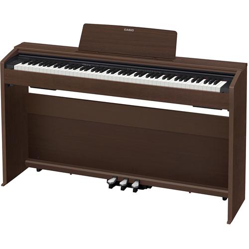 【設置】CASIO PX-870-BN(オークウッド調) Privia(プリヴィア) 電子ピアノ 88鍵盤