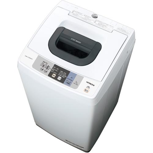 【長期保証付】日立(HITACHI) 全自動洗濯機(ピュアホワイト) 上開き 洗濯5kg NW-50B-W