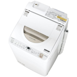 【長期保証付】シャープ ES-TX5B-N(ゴールド) 縦型洗濯乾燥機 上開き 洗濯5.5kg/乾燥3.5kg