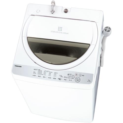 【設置+リサイクル+長期保証】東芝 AW-7G6-W(グランホワイト) 全自動洗濯機 上開き 洗濯7kg/乾燥1.3kg