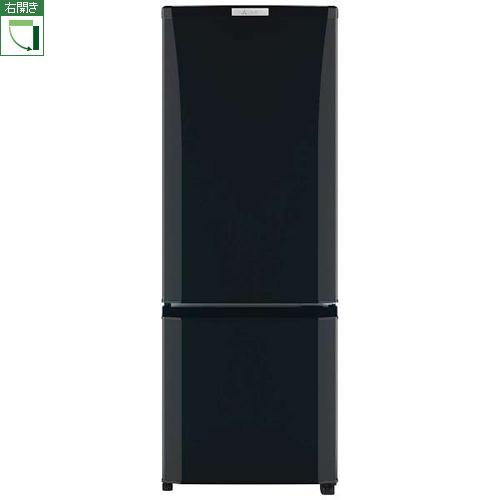 【設置】三菱 MR-P17C-B(サファイアブラック) Pシリーズ 2ドア冷蔵庫 右開き 168L
